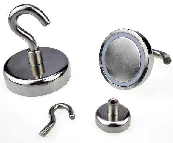 High Pull Force Neodymium Pot Magnet Spin Hook Magnets