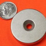1.25″X0.125″ Strong Countersunk Neodymium Magnet