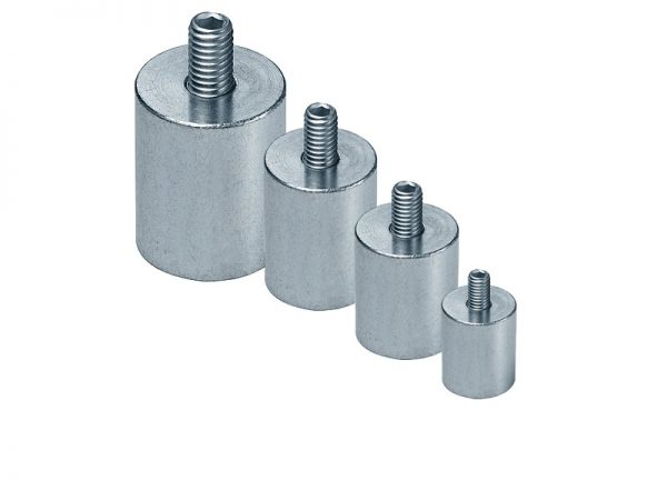 Neodymium Pot Magnet with Outer Thread Rod