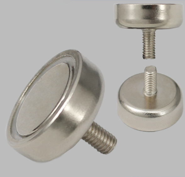 Outer Thread Rod Neody Round Base Magnets