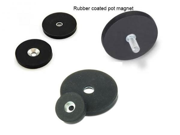 Rubber Covered Neodymium Pot Magnets