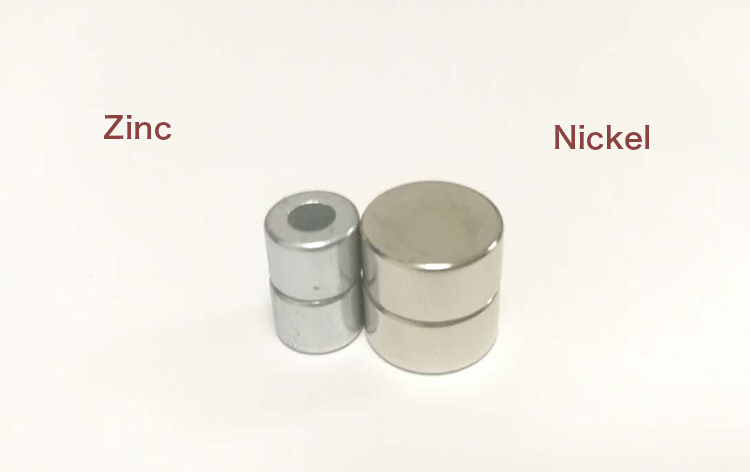 Zinc Nickel magnet different