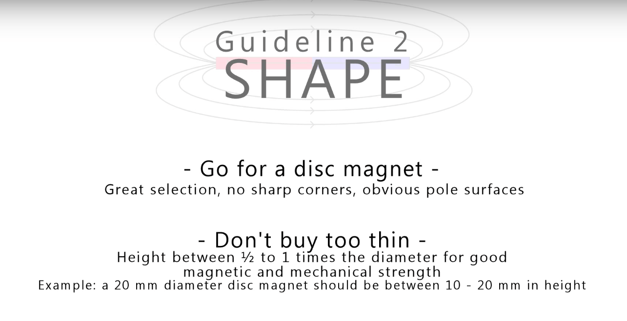 2nd Guideline of purchasing magnet